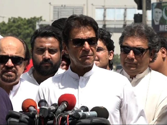 Imran urges people to vote for their generations, ECP takes notice of his media talk