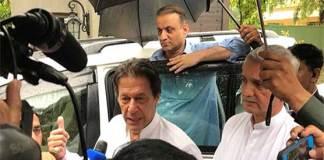 Imran Khan visits rain affected areas in Lahore