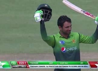 Fakhar becomes first Pakistani batsman to score double ton in ODI