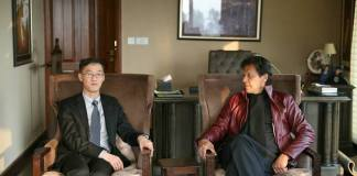 Chinese envoy calls on Imran Khan, felicitates him on victory