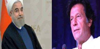 Iranian President Rouhani felicitates PM Imran Khan