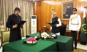 Ali Muhammad Khan takes oath as State Minister