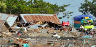48 dead as major quake-tsunami hits Indonesian island