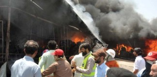 Shoe shop gutted in Baz Muhalla of Bannu City