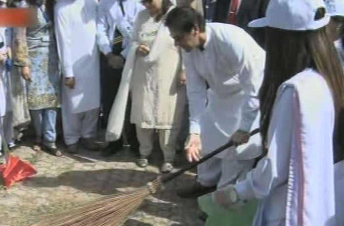 PM Imran kicks off Clean and Green Pakistan drive in Islamabad