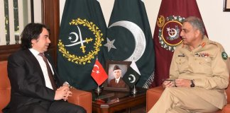 Army Chief, Turkish ambassador discuss regional security issues