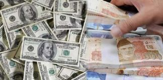 US dollar falls in interbank market against Pakistani Rupee