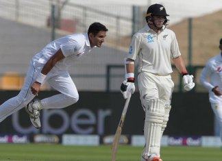 First Test: New Zealand 56-1 at close on second day