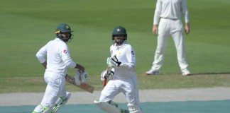 New Zealand 24-0 in reply to Pakistan's 418-5 declared
