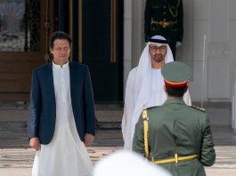 PM Imran arrives in Abu Dhabi on day-long UAE visit