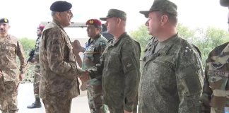 COAS reviews Pak-Russia joint military exercise at CNTC