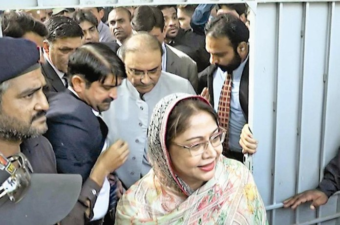 Zardari, Talpur appear before accountability court in fake accounts case