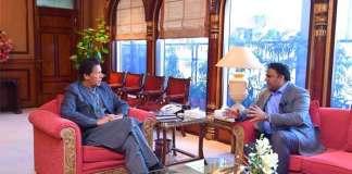 Information Minister calls on PM Imran Khan