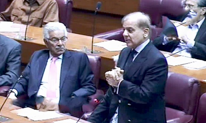 Shahbaz in NA