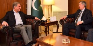 FM Qureshi meets Russian president's special envoy on Afghanistan