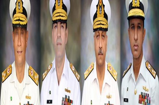 Four Rear Admirals of Pak Navy promoted to rank of Vice Admiral