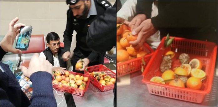 Man arrested for smuggling drugs hidden in fruits at Peshawar Airport