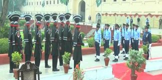 Change of guards ceremony held at Mazar-e-Iqbal
