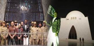 Darren Sammy visits Quaid's mausoleum in Karachi