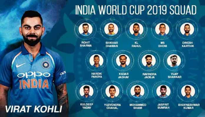 India announces squad for World Cup 2019