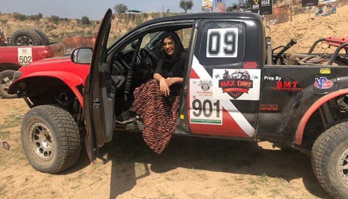 Pakistan's fastest female driver Salma Marwat wins Chakwal rally