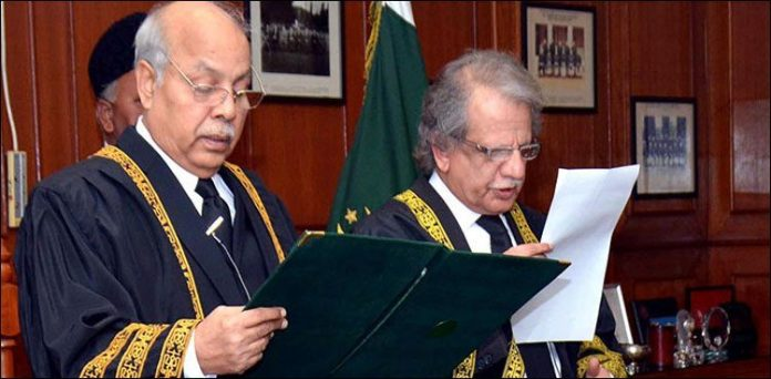Justice Gulzar Ahmed takes oath as acting CJP