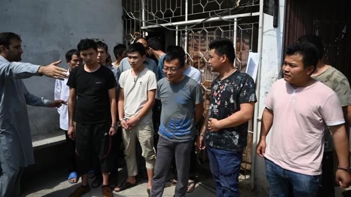 11 Chinese men remanded to jail in human trafficking case
