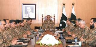 Corps Commanders Conference endorses govt's rejection of Indian actions regarding Kashmir