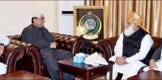 Zardari, Fazl discuss strategy for upcoming anti-govt movement