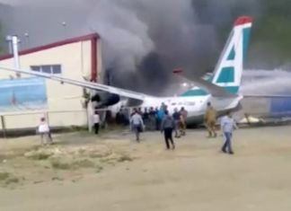 Two killed as Russian plane makes emergency landing
