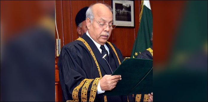 Justice Gulzar Ahmed takes oath as acting chief justice