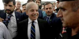 Opposition leader Shehbaz Sharif reaches Pakistan