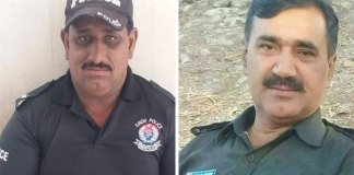 Two policemen martyred, three injured in encounter with dacoits in Shikarpur