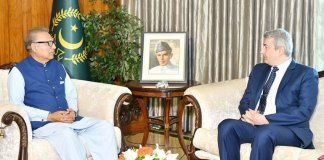 President Alvi calls for further enhancing Pak-Belgium ties