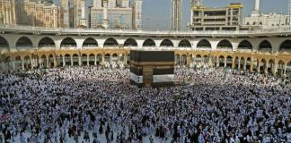 First day of annual hajj pilgrimage begins in Makkah