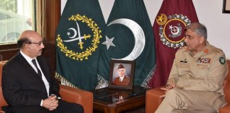 Army Chief, AJK President discuss Kashmir situation