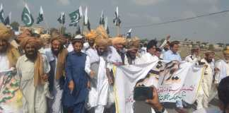 Protest rallies held across Khyber Pakhtunkhwa against India