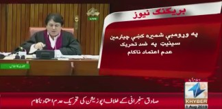 #KhyberNews, Senate, SadiqSanjrani