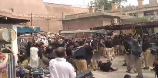 Several doctors injured during clash with police at LRH hospital