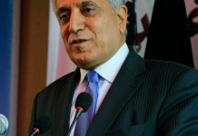 Khalilzad briefs members of US congress about Taliban negotiations