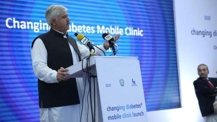 KP CM launches mobile clinic for treatment of diabetes patients