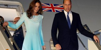 British Royal couple Prince William and Kate Middleton arrive in Pakistan