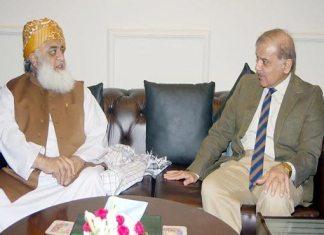 Maulana Fazlur Rehman telephones Shehbaz Sharif