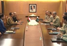 Oman SAF's Lt Gen Ahmed calls on COAS General Bajwa at GHQ