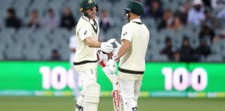 2nd Test: Australia score 302/1 against Pakistan as Labuschagne, Warner hit tons