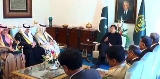 Saudi foreign minister holds meeting with PM Imran in Islamabad