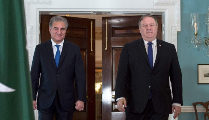 FM Qureshi meets Pompeo as Pakistan attempts to diffuse Middle East tensions