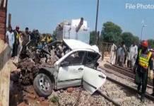 Four family members killed in Car-Train collision in Pattoki