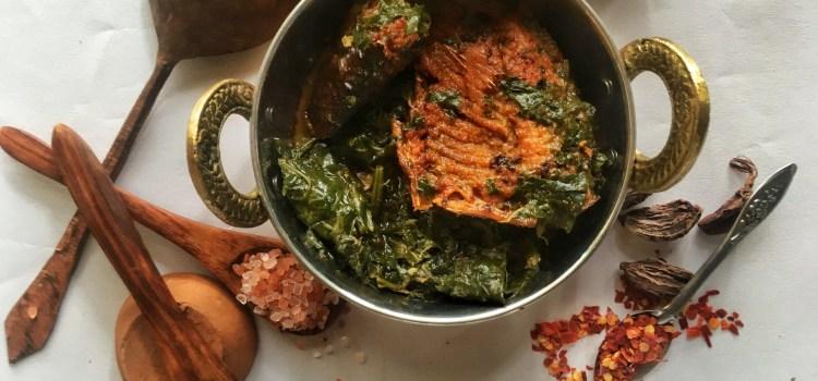 Delicious Kashmiri Recipe – Smoked Fish with Haak