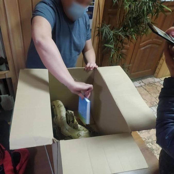 В Киеве мужчина с огромными змеями на шее приставал к ...